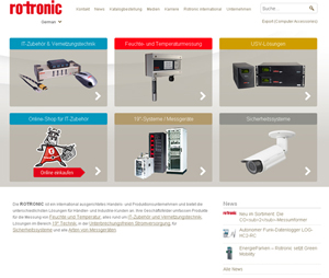 Rotronic – Nouveau site Web en ligne