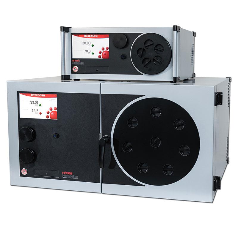 Le générateur éprouvé Rotronic HygroGen2, pour l'étalonnage, existe désormais en version XL