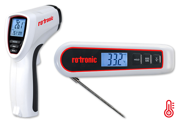 Rapid temperature measurement with ROTRONIC. How cool is that? The new handheld instruments