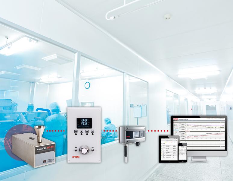 Monitoring des particules en salle blanche par Rotronic