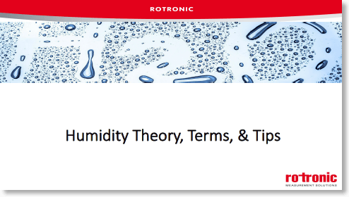 Humidity Theory, Terms and Tips
