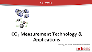 CO2 Measurement Technology and Applications