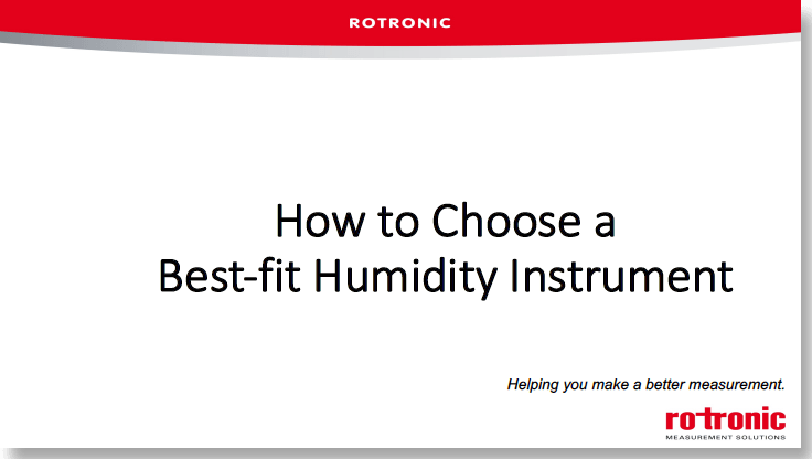 How to choose a best fit instrument