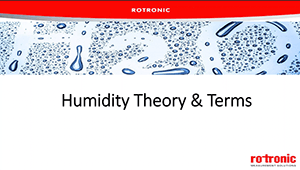 humidity theory and terms webinar