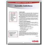 Humidity Definitions – The 7 Essential Parameters