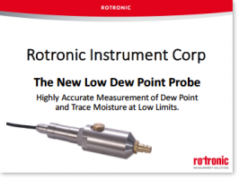 Product Webinar - Rotronic Low Dew Point (LDP) Probes (HC2-LDP)